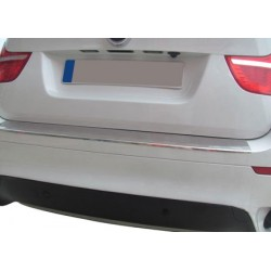 Rear bumper sill cover alu brushed for 2008 BMW X 6-[...]