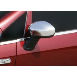 Covers mirrors stainless chrome for Fiat PUNTO EVO 2009 - 2012