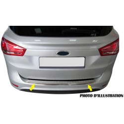 Rear bumper sill cover alu brushed for Mercedes class C W204 2008-[...]