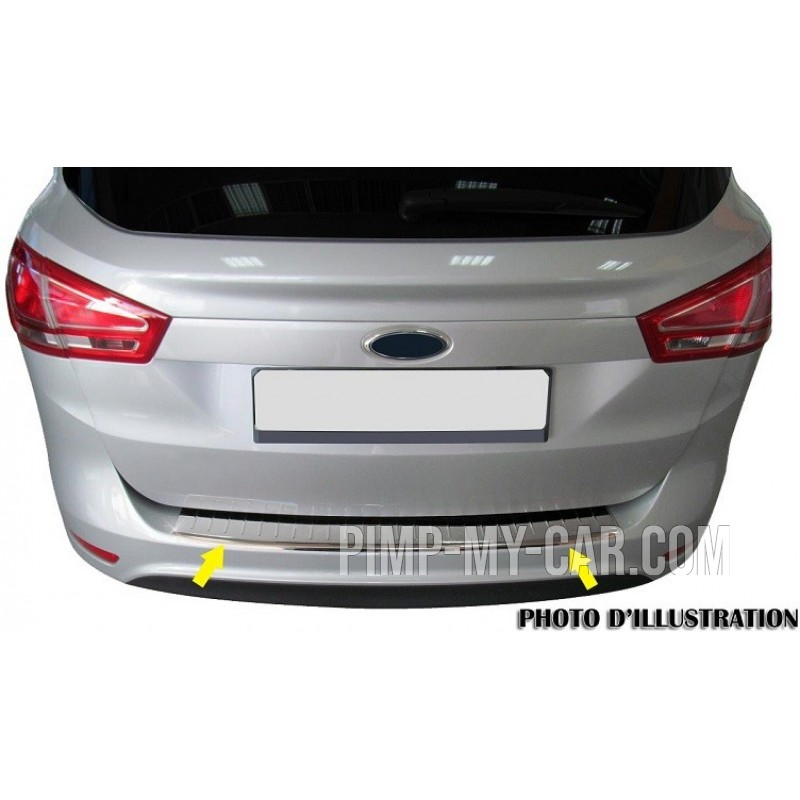 Rear bumper sill cover alu brushed for Peugeot PARTNER (II) TEPEE 2008-[...]