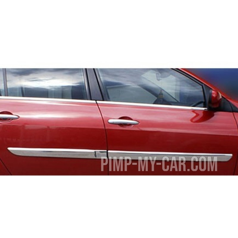 Covers wands doors chrome for Renault MEGANE II 2004 - 2005