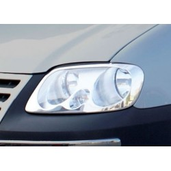 Contour chrome front headlights VW CADDY 2003 - 2010