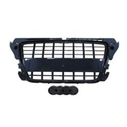 Black grille brilliant for Audi A3 2008-2012 PDC - S3 Style